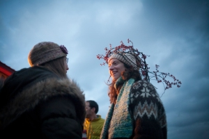 Our Wassail Queen, with the voice of an orchard angel.